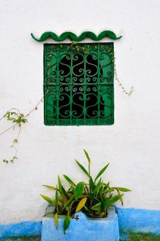Window of the Tanger medina. Morocco