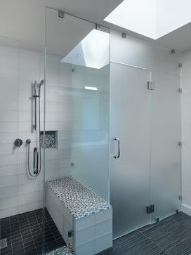 Stacked Glass Tile Donald Drive Residence Contemporary Bathroom