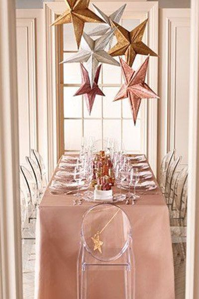 Rose Gold Stars New Year S Eve Party Themes Rose Gold Christmas Sparkle Wedding