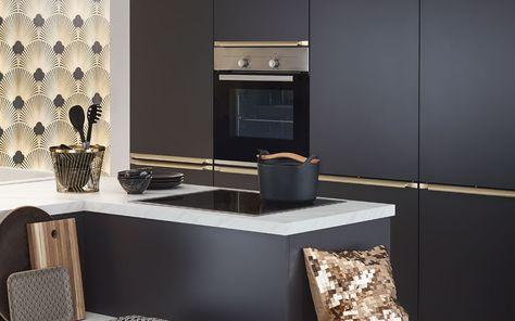 Design-Küche in Anthrazit matt - Küche&Co | Küche anthrazit ...