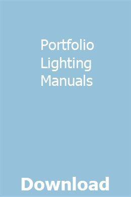 Portfolio Lighting Manuals Progthivape