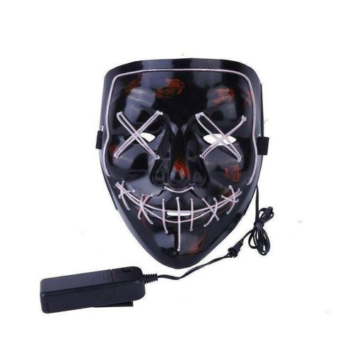 Clubbing Light Up Sunglasses LED Mask Costume Halloween Rave Cosplay Party