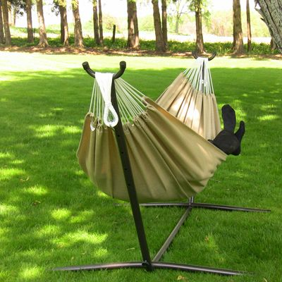 Medium image of vivere sunbrella hammock  u0026 stand   long lasting material as soft as cotton   hammock  summerliving   hammock canada   pinterest   hammock stand