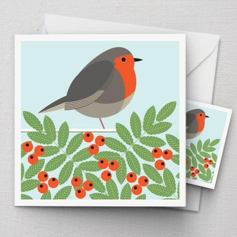 Robin  Rowan Card | Ilikebirds via Polyvore