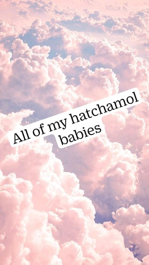 All of my hatchamol babies