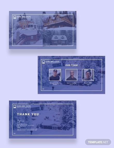 Vacation Rental Presentation Template In 2020 Presentation Templates Leaflet Template Postcard Template