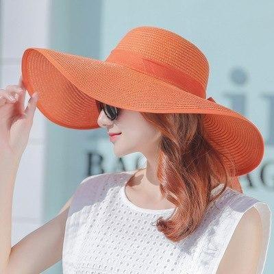 Simple Summer Straw Hat Women Big Wide Brim Beach Hat Sun Hat Foldable Chicmaxonline Summer Hats For Women Sun Hats For Women Elegant Hats