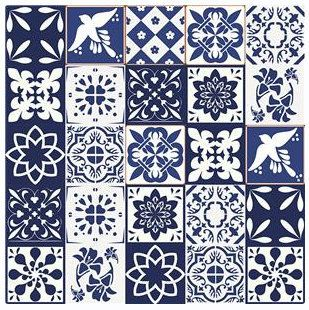 Ornamental Vinyl Tiles Stickers Kitchen Bathroom Diy Sticker Tile 6 Inch T111 By Stickeyworld On Etsy Tile Stickers Kitchen Vinyl Tiles Floral Mosaic