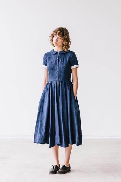Klassische leinenkleider