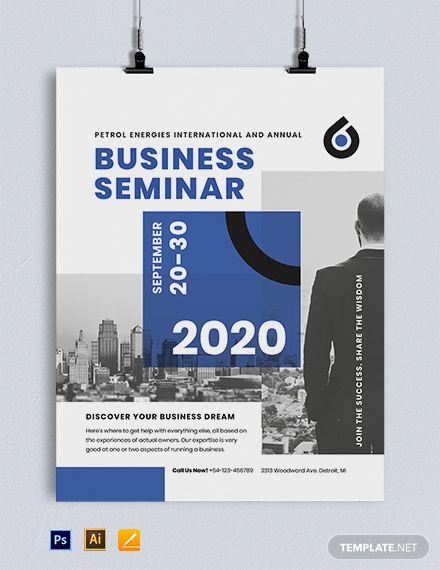 Business Seminar Poster Template Psd Apple Mac Pages Illustrator Event Poster Template Business Poster Event Poster Design