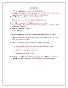 Cuban Missile Crisis Worksheet - worksheet