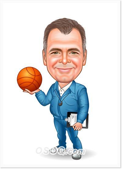 Basketball Coach Dessin Peinture Dessin Caricaturistes