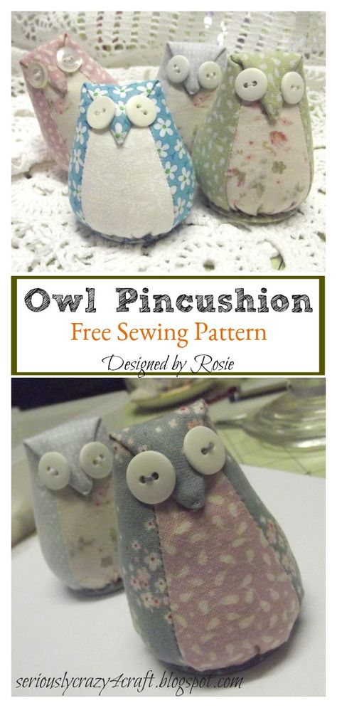 Easy sewing hacks are offered on our website. Check it out and you will not be sorry you did. Easy Sewing Projects, Sewing Projects For Beginners, Sewing Hacks, Sewing Tutorials, Sewing Crafts, Sewing Tips, Owl Sewing Patterns, Pincushion Tutorial, Pincushion Patterns