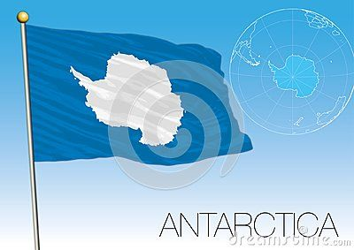 Antarctica Flag Of The Territory And Map Vector Illustration Vector Illustration Antarctica Flag