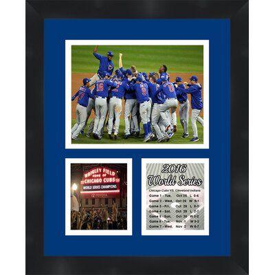Framed under UV glass Wrigley Field Home of Chicago Baseball Cubs