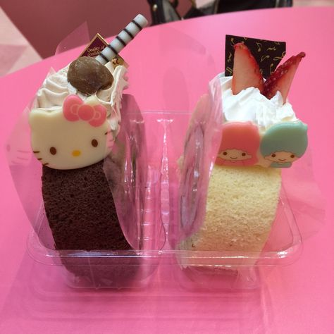 ♥ The Cutest Monthly Kawaii Subscription Box ♥ Receive cute items from Japan & Korea every month ♥ Cute Snacks, Cute Desserts, Cute Food, Yummy Food, Japanese Cake, Japanese Sweets, Japanese Snacks, Banana Split, Desserts Japonais