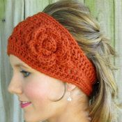 Easiest headwrap ever head wraps crochet and wraps you could add a button and change out the flower crochet headwrap pattern the yarn box dt1010fo