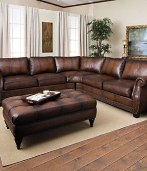 Bernhardt  Bradley  Leather Sectional for the Living Room! u003c3 Dillards Furniture | For the Home | Pinterest | Leather sectional Living rooms and Room : leather nailhead sectional - Sectionals, Sofas & Couches