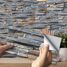 Goory Self Adhesive Vinyl Flooring Tiles Waterproof Peel And Stick Tiles Wall Stickers For Home Decor Gray Wood Grain Walmart Com In 2021 Stick On Tiles Peel And Stick Tile Rustic Stone