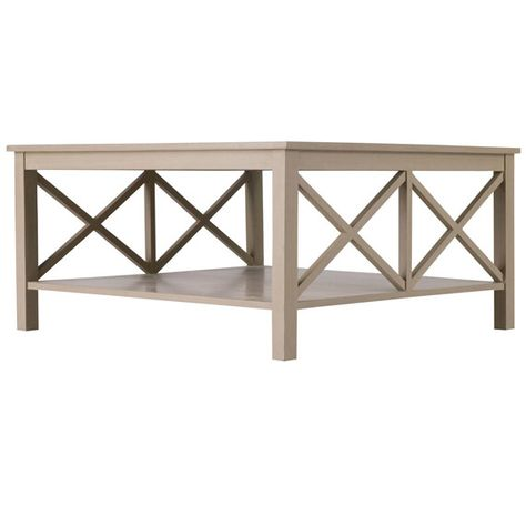 Saltire Large Square Coffee Table With Storage Living Room
