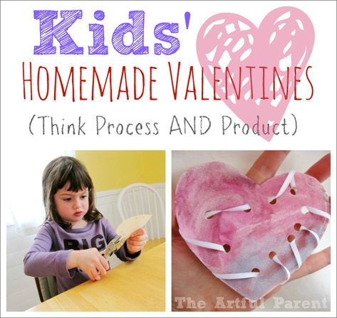 Kids' Homemade Valentines ::Think Process AND Product