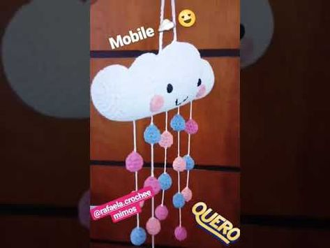 Móbile croche balão Crochet balloon Mobile Amigurumi / Nuvens ...   355x473
