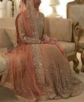 bride bridallehenga shimmer sparkle lightpink is part of Bridal lehenga -