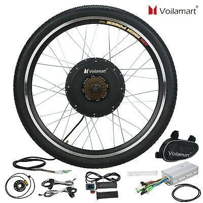 """48V 1000W 26/"""" Fat Tire Rear Wheel w// LCD Electric Bicycle E-bike Kit Conversion"""