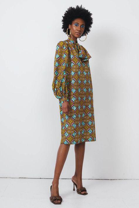 Geometric Vintage-Inspired Fall Dress
