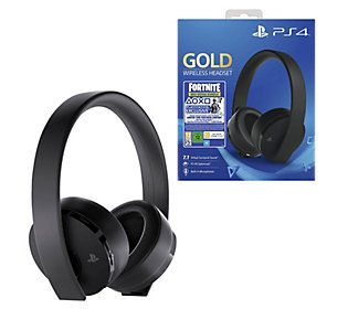 Ps4 Gold Wireless Headset With Fortnite Neoversa Bundle Qvc Com Wireless Headset Headset Noise Cancelling