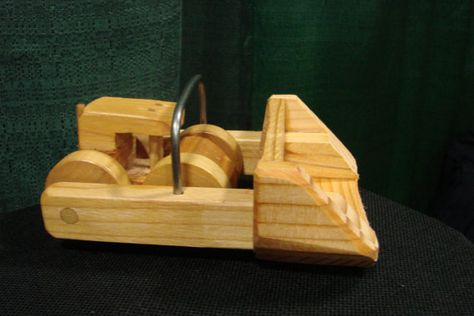 Wooden Toy Front Loader by WoodenToysNW on Etsy, $8.00
