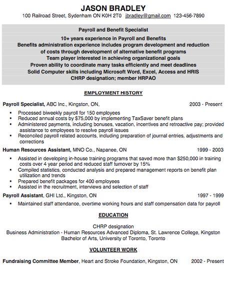 machine operator resume Resumes Pinterest - payroll resume