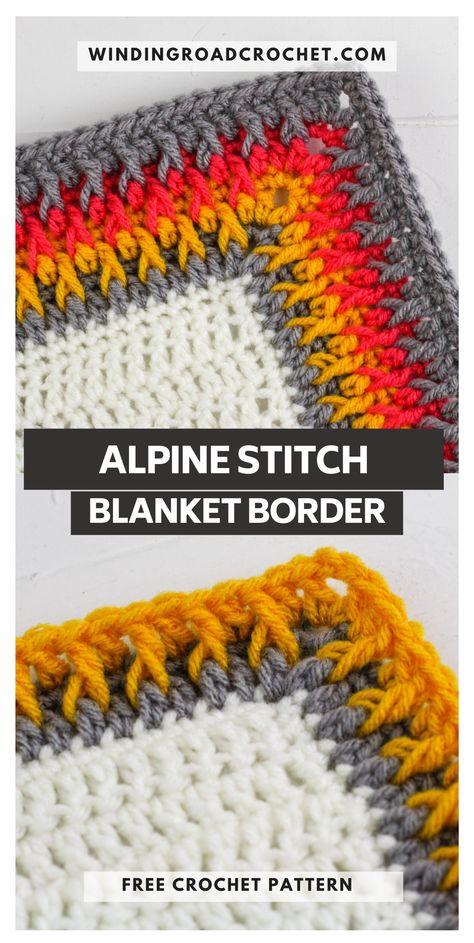 Crochet Baby Blanket Borders, Crochet Border Patterns, Crochet Boarders, Crochet Designs, Knit Or Crochet, Crochet Crafts, Crochet Stitches, Crochet Projects, Free Crochet