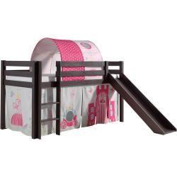 Hochbett Pino Princess Taupe Kiefer Massivholz Rutsche Und Tunnel 90x200 Cm Roller 90x200 Easy Diy Craf In 2020 Diy Bunkbeds Lit Mezzanine Paper Plate Crafts