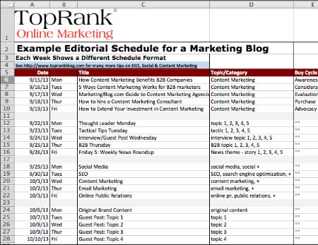 editorial-plan-optimize12 Work Stuff Pinterest Content - sample marketing schedule