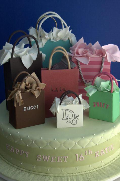 Designer cake;creative idea Gucci purse birthday cake Gucci ...