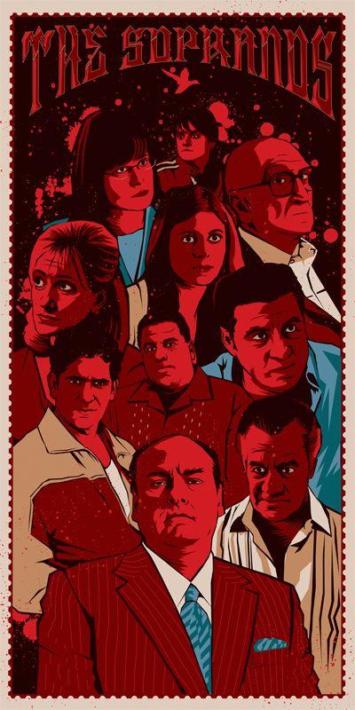 the sopranos in 2021 sopranos poster