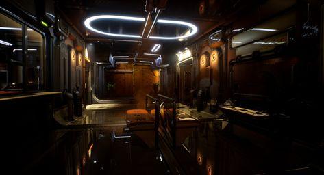 UE4 Scifi hallway - Lighting Study by sri vigneshDoing some