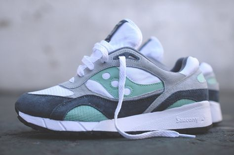 SAUCONY SHADOW 6000 (WHITE  MINT)  224eb6935ea