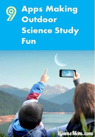 9 apps making outdoor science study fun #kidsapps #ScienceApps