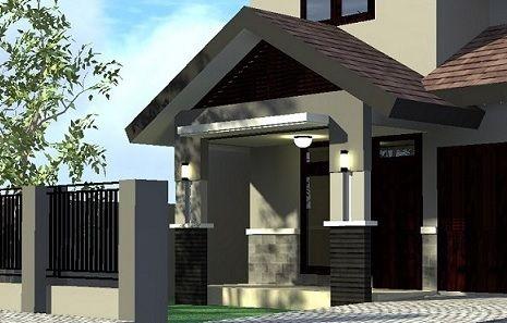 Contoh Model Tiang Teras Rumah Minimalis Sederhana Dengan Gambar