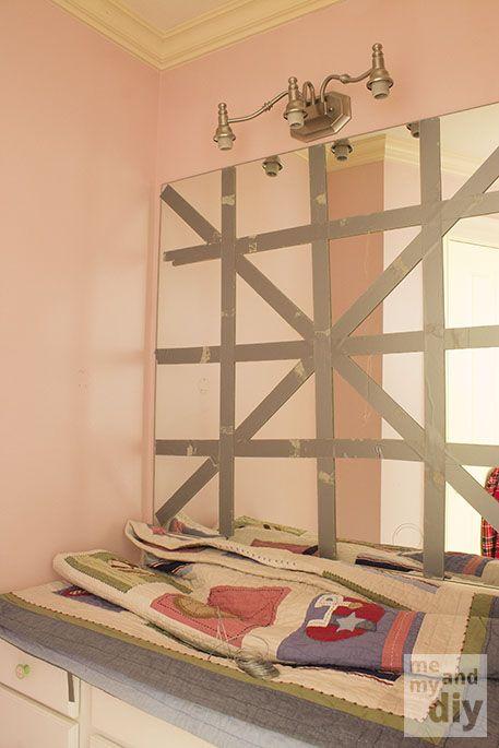 How to Remove a Frameless Mirror Like a Nervous Grandma - | Builder grade,  Frameless mirror and Empty wall