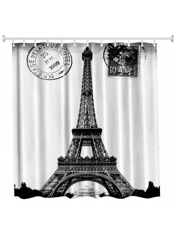 Stamp Tower Polyester Shower Curtain Bathroom High Definition 3d