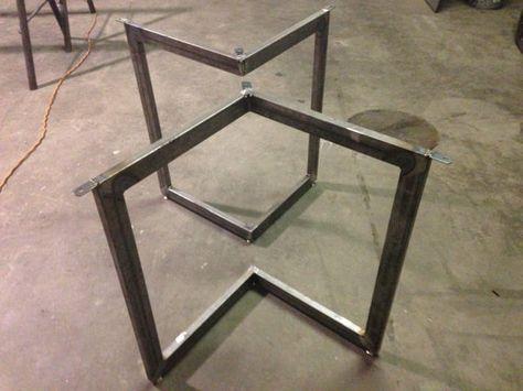 Chevron Metal Dining Table Base Legs By Bennysbrackets On