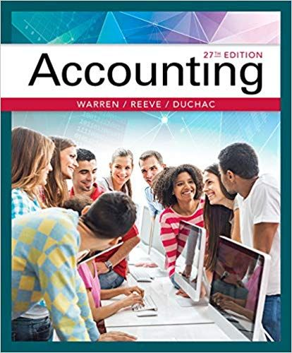 Accounting 27th Edition By Carl Warren Isbn 13 978 1337272094 Ebookschoice Com Accounting Books Financial Accounting Accounting
