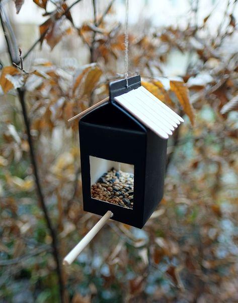 Feed the Birds – Milk carton bird feeder