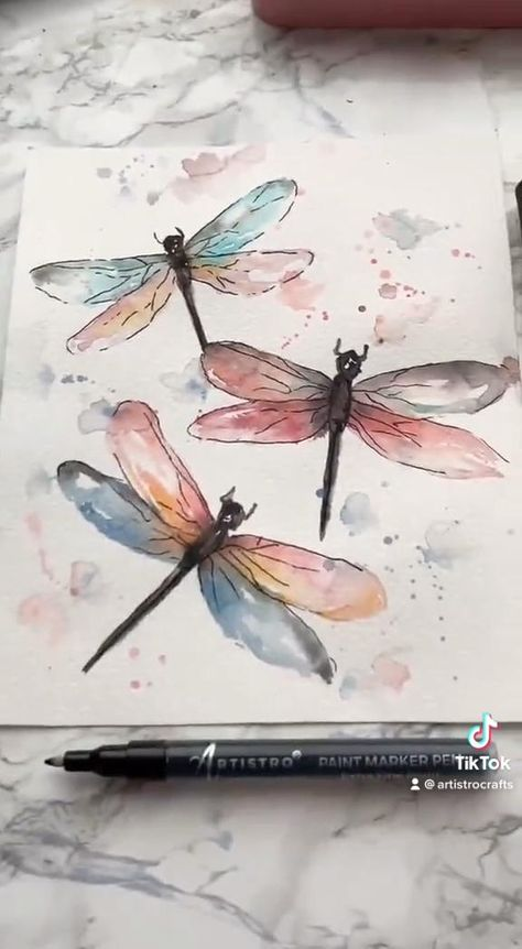Your watercolor art was inspired by the beauty of dragonfly's. The Artistro Watercolor Painting Tutorial will show you how to master a painting similar to mine in a few easy steps.