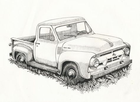 Old Ford Truck Drawing Old Trucks Pinterest Ford Trucks