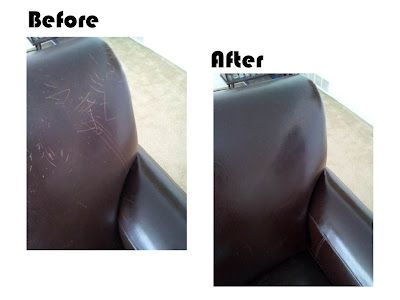How to remove scratches from leather...so simple! must remember.