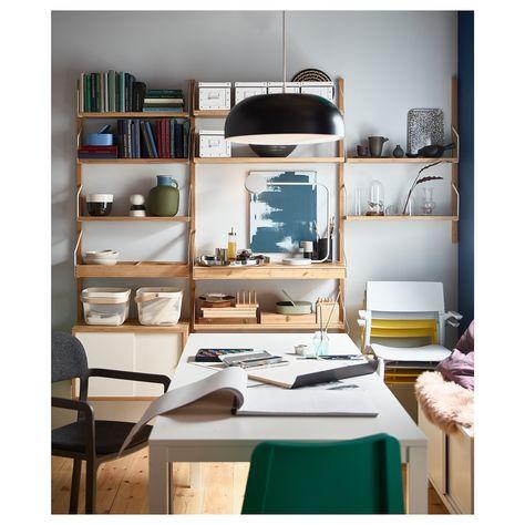 Tavoli Allungabili Per Piccoli Spazi.Vangsta Tavolo Allungabile Bianco 80 120x70 Cm Nel 2020 Tavolo